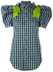 Dsquared2 Gingham Blouse Women Cotton Polyamide Spandex Elastane Viscose 42 Green