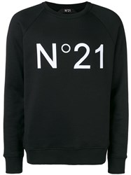 N 21 No21 Logo Print Sweatshirt Black