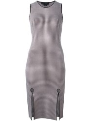 Alexander Wang Gingham Pencil Dress Red