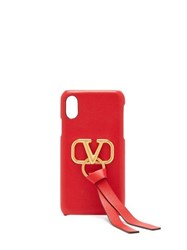 Valentino V Ring Leather Iphone X Case Red
