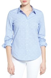 Halogenr Women's Halogen Dobby Dot Check Cotton Shirt