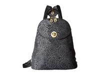Baggallini Gold Cairo Backpack Pewter Floral Backpack Bags Black