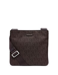 Michael Kors Slim Flat Crossbody Bag Brown