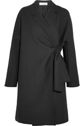 Victoria Beckham Oversized Twill Coat Black