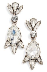Junior Women's Leith Crystal Teardrop Statement Earrings