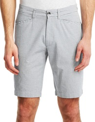 Kenneth Cole Classic Fit Horizontal Stripe Shorts Sterling Grey