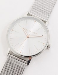 Bellfield Silver Watch With Silver Dial
