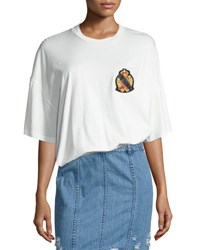 Public School Lilith Oversized Cotton Jersey Tee White