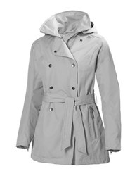 Helly Hansen Welsey Hellytech Weather Proof Trenchcoat Ash Grey