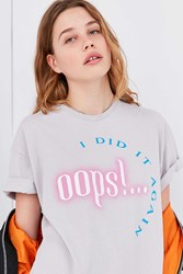 Urban Outfitters Oops I Did It Again Tee Grey