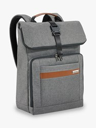 Briggs And Riley Kinzie Street 2.0 Medium Foldover Backpack Grey