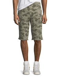 Atm Anthony Thomas Melillo Camouflage French Terry Shorts Green