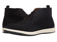 Giorgio Armani Microhole Chukka Boot Night Men's Boots Black