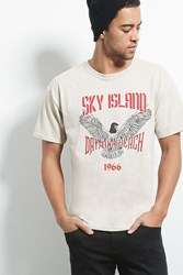 Forever 21 Bleach Sky Island Graphic Tee
