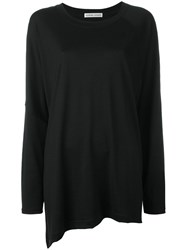Tsumori Chisato Asymmetrical Oversized Jumper Black