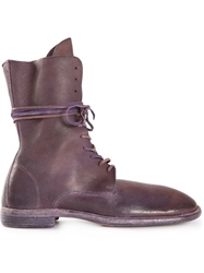 Guidi Lace Up Boots Pink And Purple