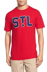 Men's Red Jacket 'Saint Louis Cardinals Twofold' Crewneck T Shirt