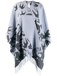 Mcq By Alexander Mcqueen Large Knitted Scarf Blue