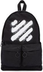 Off White Black Diagonal Spray Backpack