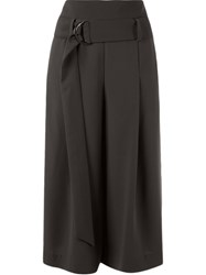 Giuliana Romanno Cropped Wide Trousers Grey