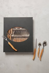 Anthropologie Olive Wood Laguiole Flatware Collection Neutral