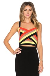 Milly Colorblock Bustier Orange