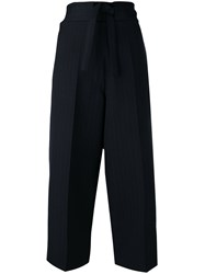 Victoria Beckham Cropped Pants Blue