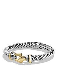 David Yurman Buckle Cable Bracelet With Gold Silver Gold