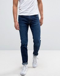 Selected Homme Jeans In Skinny Fit Stretch Denim Dark Blue