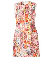 Valentino Floral Printed Silk Blend Dress Multicoloured