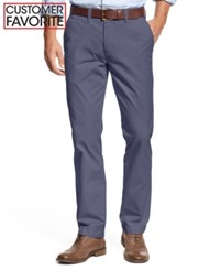 Tommy Hilfiger Men's Custom Fit Chino Pants Bayhead Blue