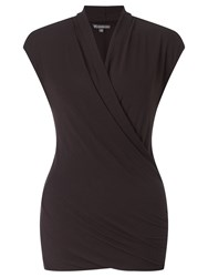 Adrianna Papell Cap Sleeve Top Black