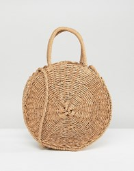 Stradivarius Straw Bag Orange