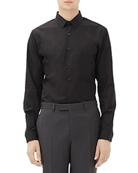 Sandro Seamless Slim Fit Button Down Shirt Black