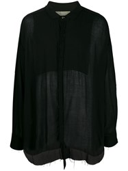 Di Liborio Raw Hem Shirt Black