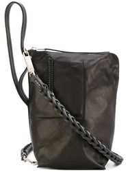 Rick Owens Bucket Shoulder Bag Women Calf Leather One Size Black