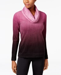 Ideology Fleece Cowl Neck Top Only At Macy's Sweet Fig
