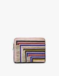 Lizzie Fortunato Safari Clutch In Stripe