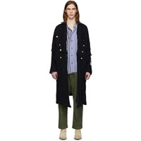 Greg Lauren Navy Paul And Shark Edition Officer Coat