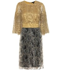 Burberry Macrame Lace Dress Gold