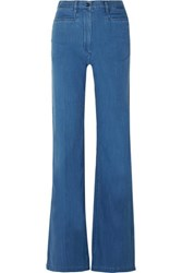 Joseph Cotton Chambray Wide Leg Pants Indigo