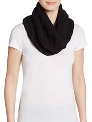 Elie Tahari Lindsay Wool And Cashmere Infinity Scarf Black