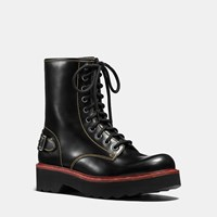 Coach Moto Hiker Boot Black