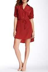 Zoa Two Pocket Shirt Dress Red