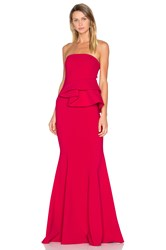 Jay Godfrey Lima Gown Red