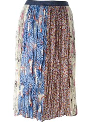 Tsumori Chisato Pleated Skirt Multicolour