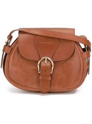 Alexander Mcqueen Maxi Buckle Shoulder Bag Brown