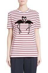 Etre Cecile Women's Flamingo Stripe Cotton Tee