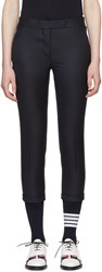 Thom Browne Navy Low Rise Skinny Trousers