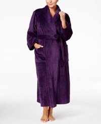 Charter Club Plus Size Super Soft Shawl Collar Long Robe Only At Macy's Purple
